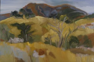 "19-Marsha Connell-August Afternoon, Mt. St. Helena-oil-24x36"" 2009"