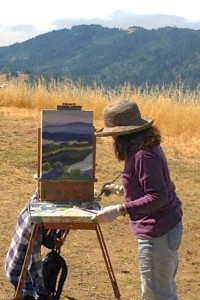 Marsha Connell Oil Painting Demo at Pepperwood Preserve