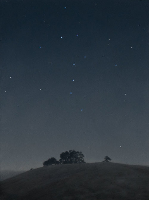 Constellation of the Great Bear, oil on canvas painting by Sonoma County artist Christopher Evans