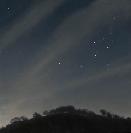 Constellation of the Hunter, oil on canvas painting by Sonoma County artist Christopher Evans