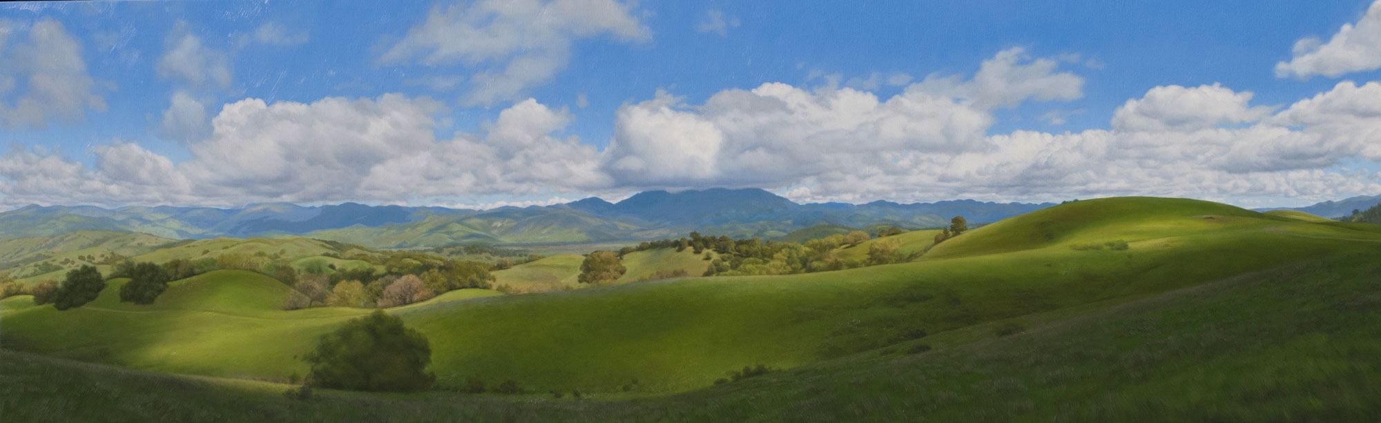 Kanamota Under Clouds, oil on canvas painting by Sonoma County artist Christopher Evans