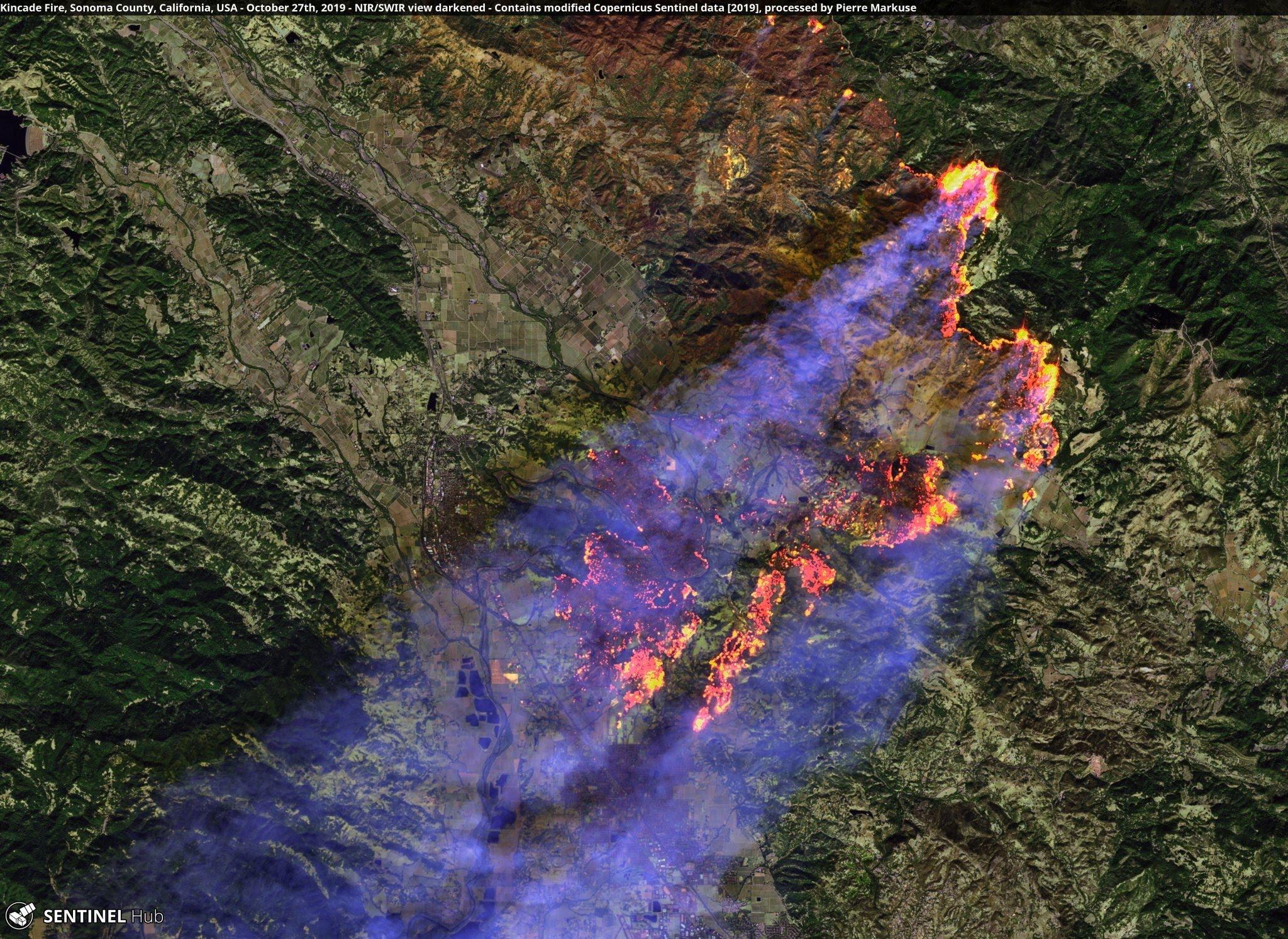 Kincade Fire Satellite Image